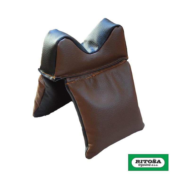 Jastuk za naslon puške - ručni rad - koža
