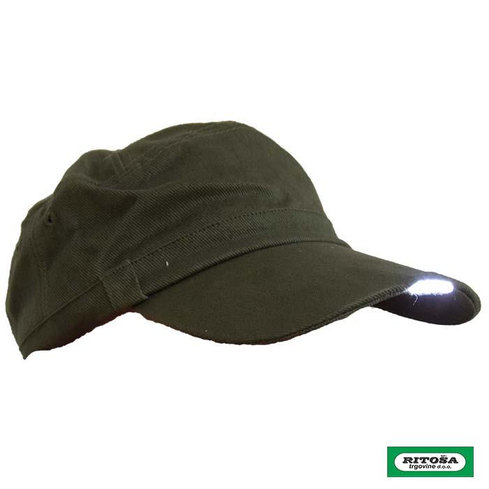 Kapa sa led lampom - zelena