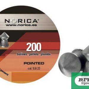 Diabole Norica POINTED 5,5mm 200 kom