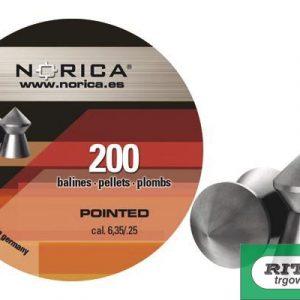 Diabole Norica POINTED 6,35mm 200 kom